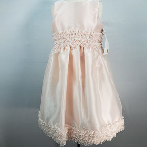 US ANGELS SLEEVELESS FLOWER GIRL DRESS STYLE 105
